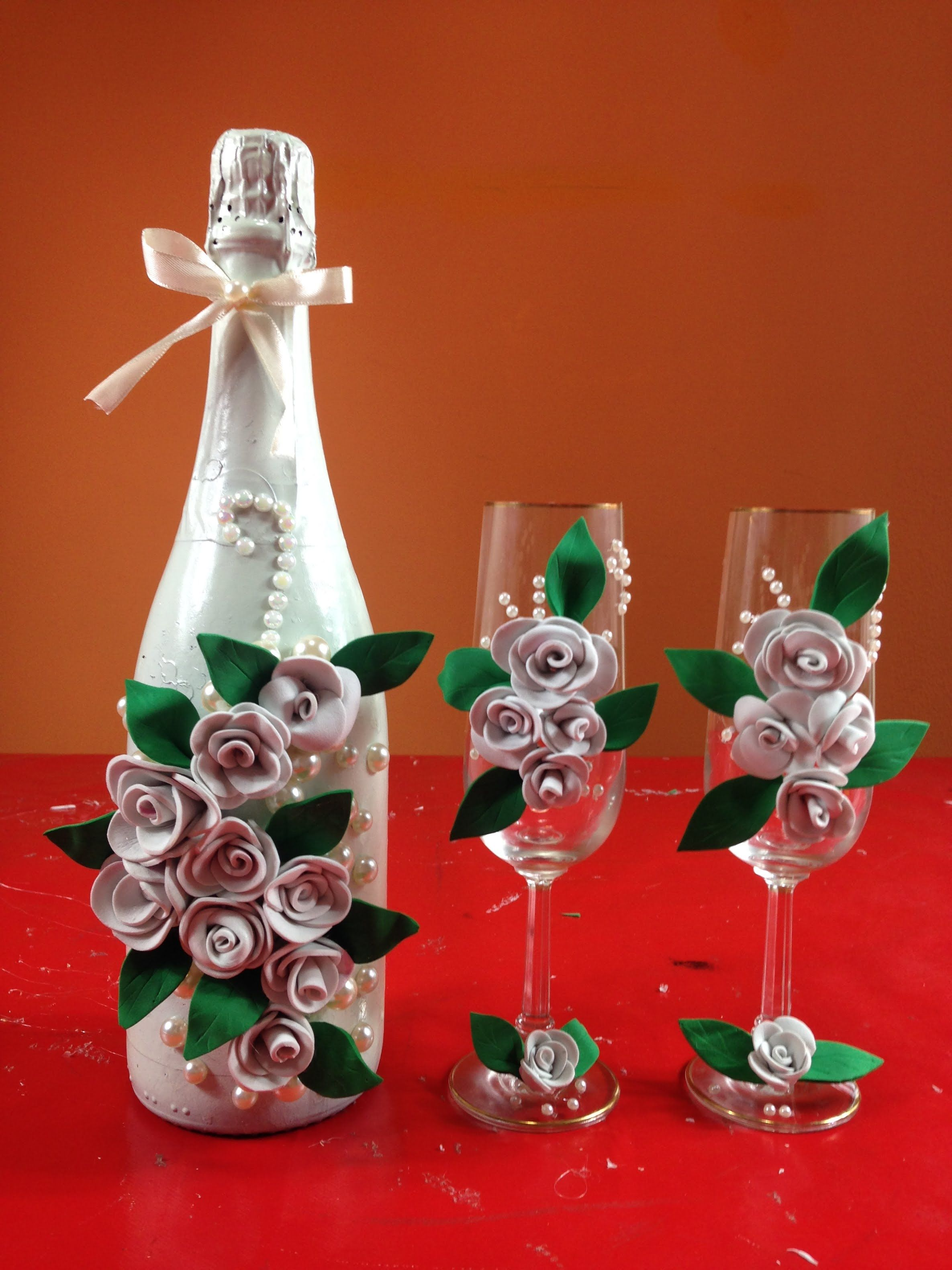 Botellas De Vidrio Decoradas Para Boda Botellas Decoradas Para Boda