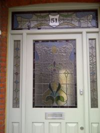 edwardian stained glass front doors