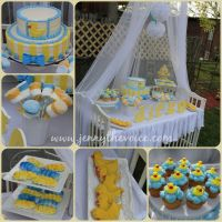 A beautiful babyshower boy theme Rubber Duck , rubber