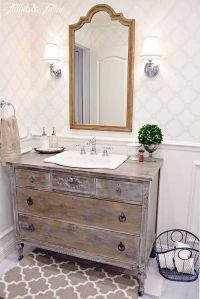 Guest Bathroom Makeover {Reveal} | Twine and Bathroom vanities