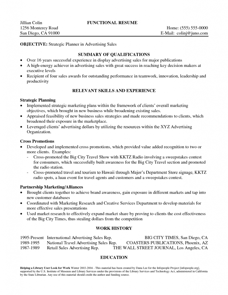 advertising sales executive resume example