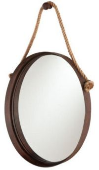NEW Rustic Wall Mirror Rope Western Hanging Oval Round ...