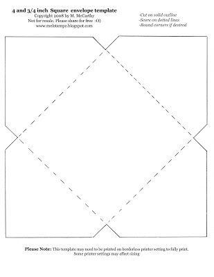 Mel Stampz Over 100 envelope templates and tutorials ENVELOPE - 4x6 envelope template