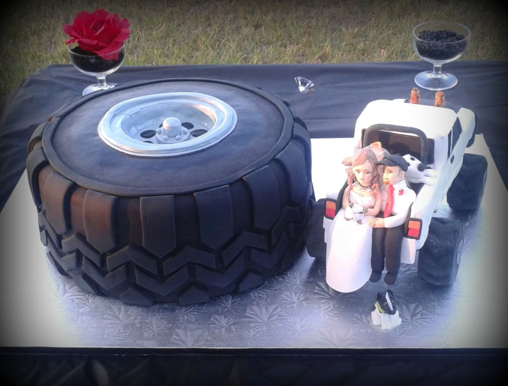 mudding tire wedding rings mud tire double 12 chocolate cake with cookies cream download - Mud Tire Wedding Rings