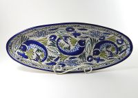 """""""Santorini"""" Hand-painted Dinnerware Collection- Oval ..."""