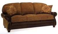 western leather furniture | Leather-Fabric Sofa | Trail ...