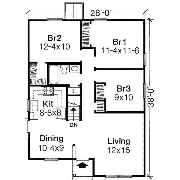1000 sq ft house plans 3 bedroom - Google Search Bogard House - 3 bedroom house plans