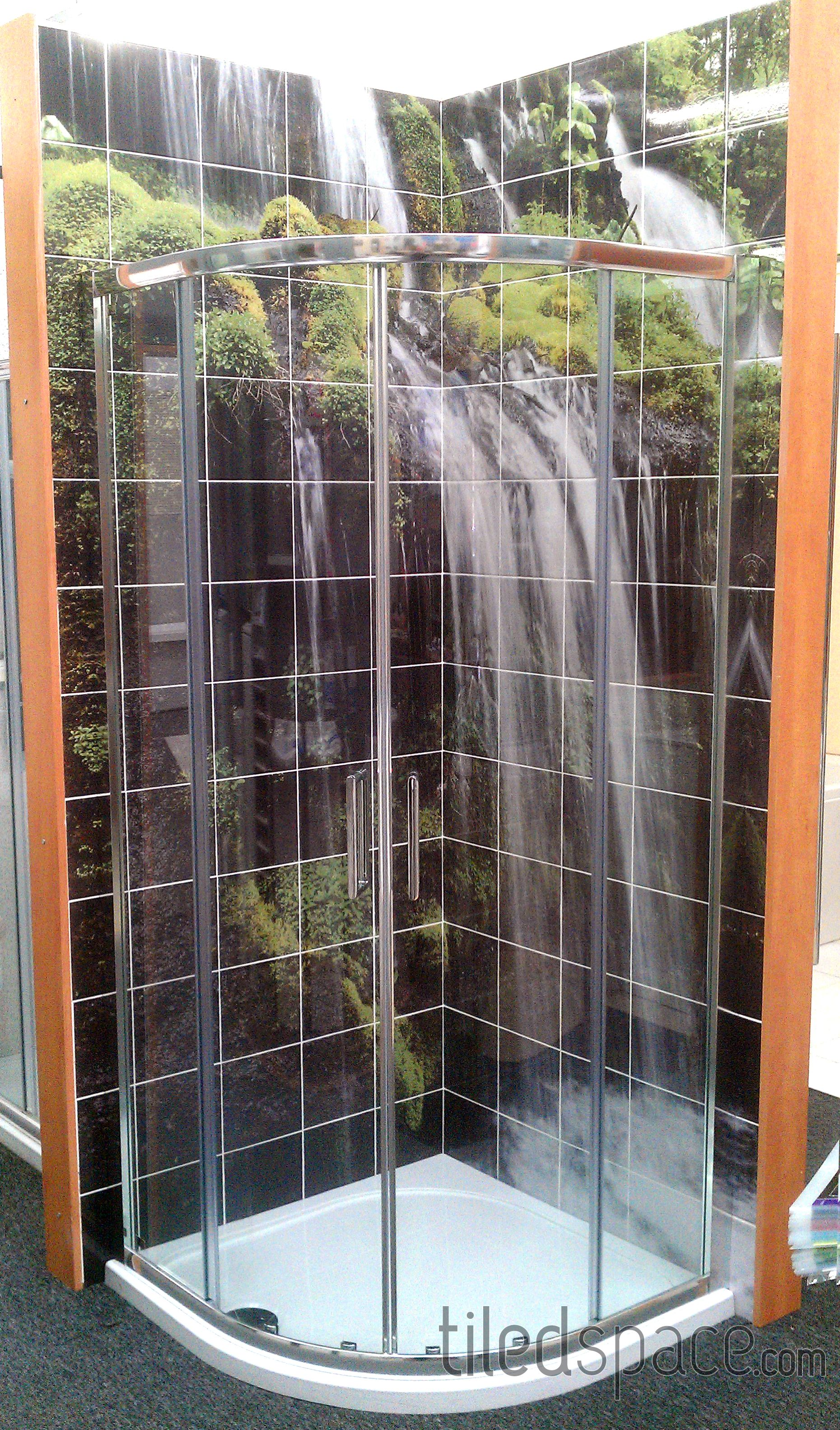 Waterfall Showers Designs Relaxing Waterfall Tiled Mural In Your Shower Dream