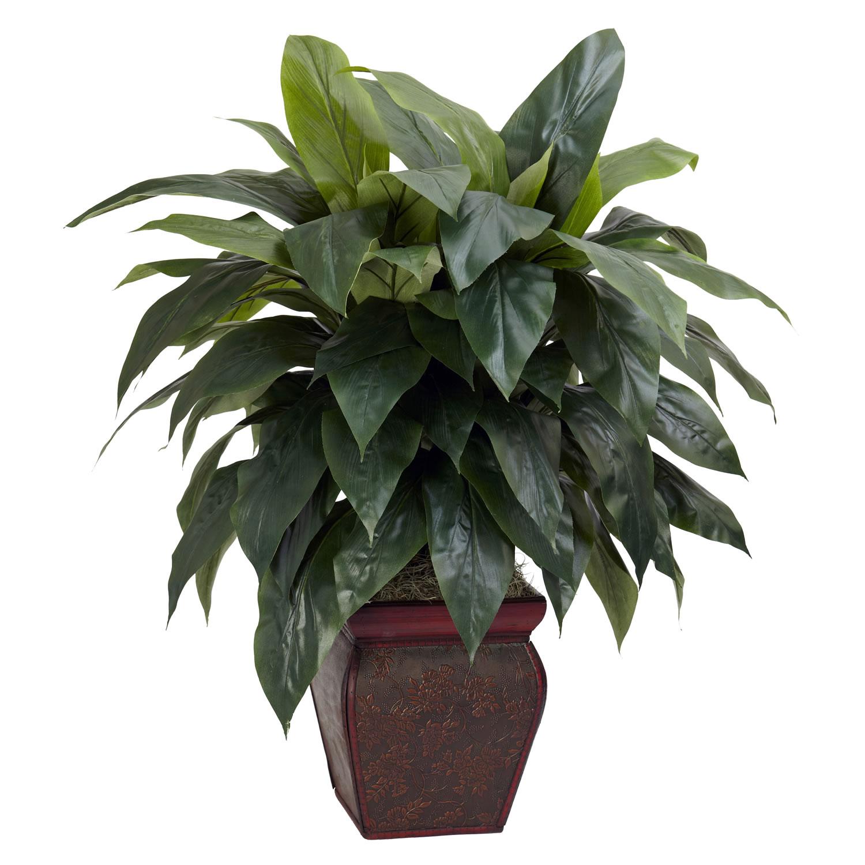 Silk plants 35 inch cordyline in decorative vase