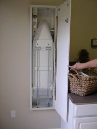 Ironing Board With Storage Woodworking Wall Mounted ...
