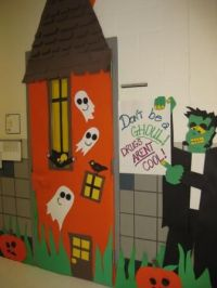 red ribbon door decorating ideas | Fort Worth ISD Schools ...