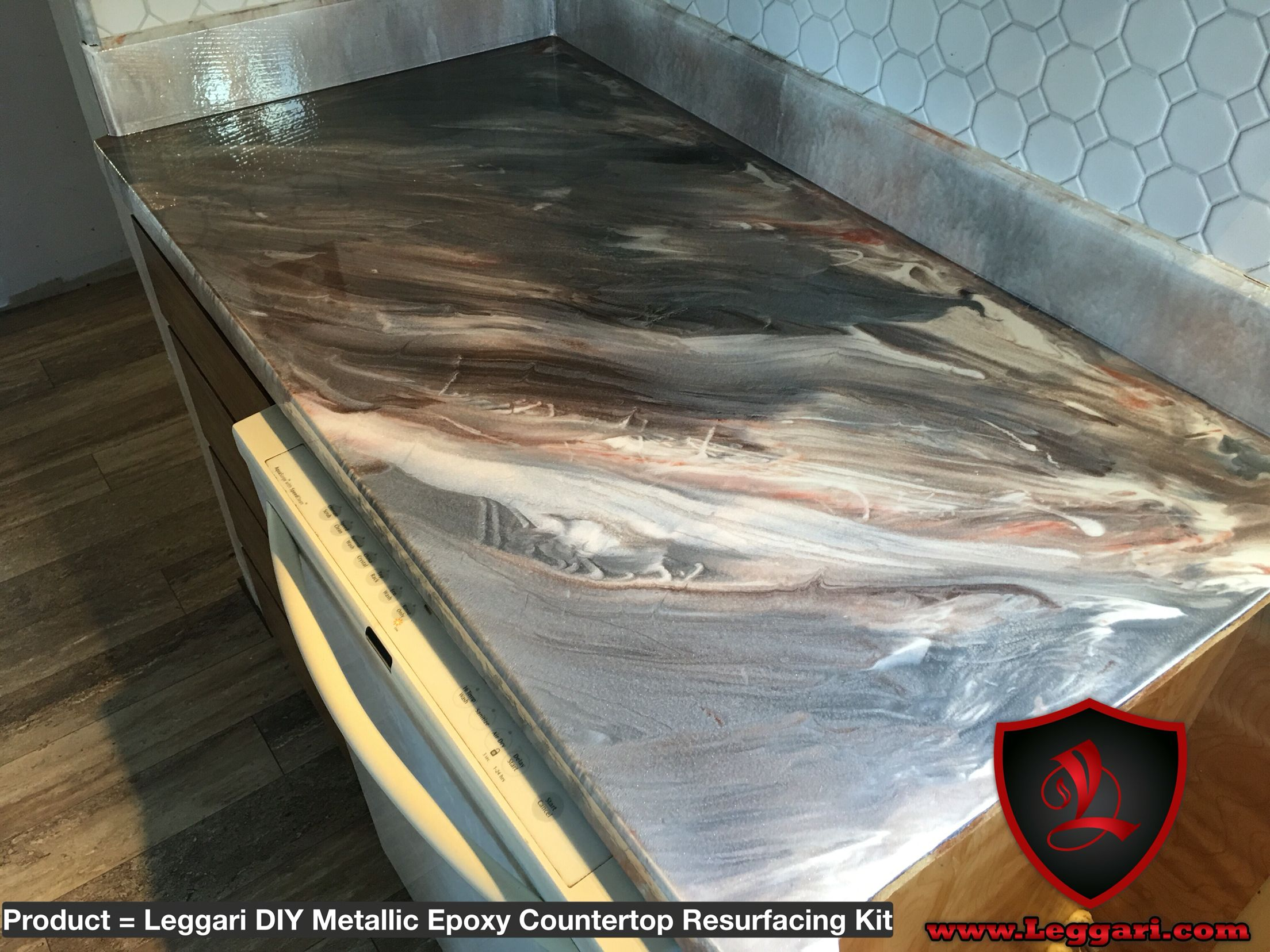 Resurface Countertop Kit This Countertop Was Coated With A Leggari Products Diy