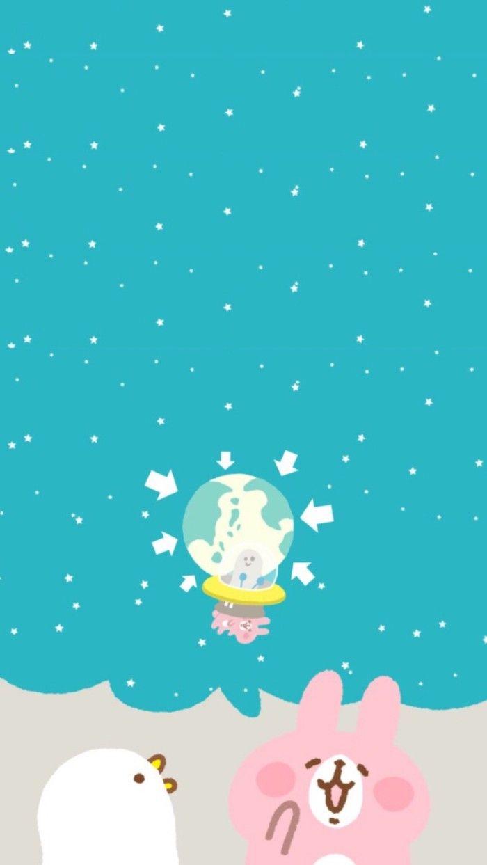 Cute Wallpapers Drawing Kanahei カナヘイ Wallpaper墙纸 卡通兔兔【喜欢请点进专辑】 Usagi Amp Pisuke