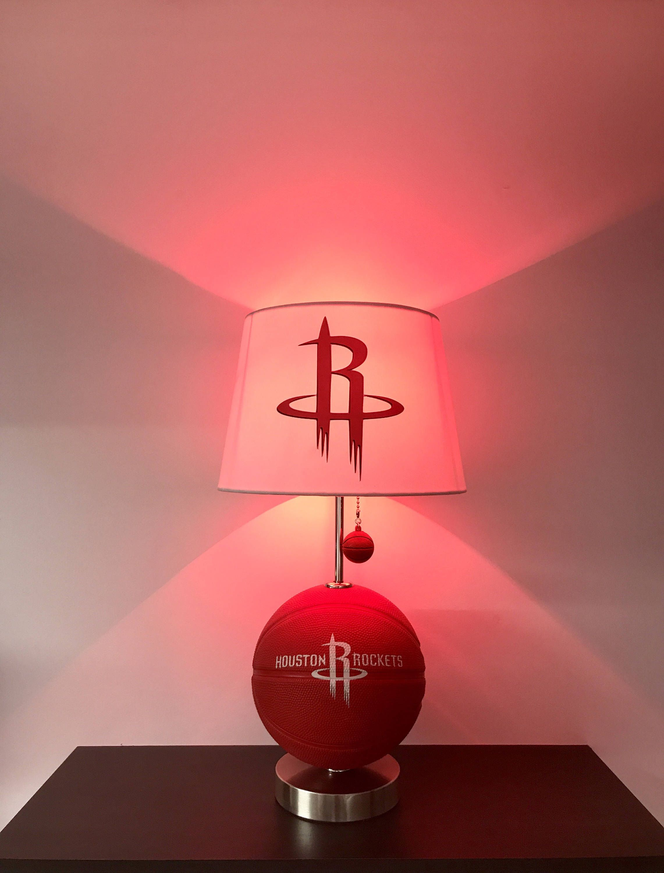 Childrens Night Light Table Lamps Houston Rockets Lamp Basketball Lamp Rockets Light