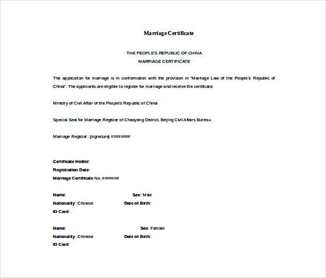 Doc Format Free Marriage Certificate Template , Selecting - certificate template doc