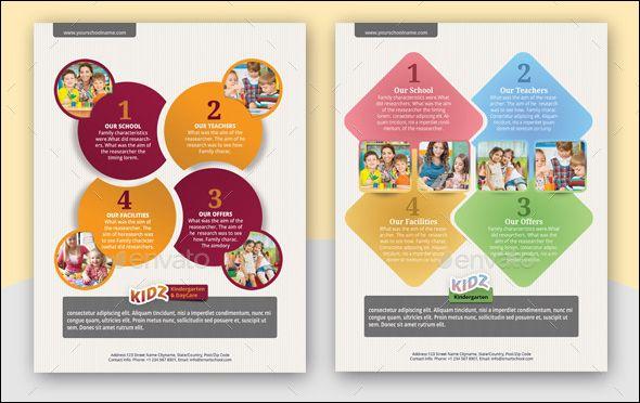 20+Modern Baby Daycare Flyer PSD Mockups ! Daycares, School - daycare flyer