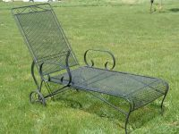 Vintage Woodard Lounge Chair | Vintage Metal Bouncy Chairs ...