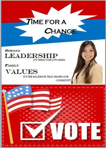 Election flyer template microsoft word Free Political Campaign - microsoft templates for flyers