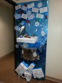 Snow globe for door decorating contest at the office ...
