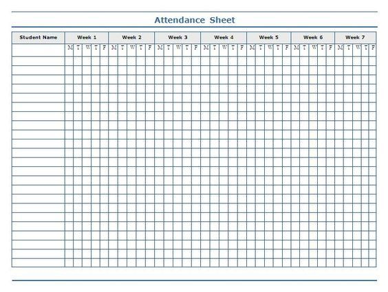 classroom charts printable Guidelines for Attendance Sheet - classroom list template
