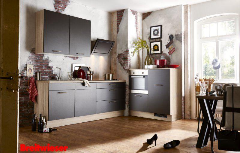 Moderne-einbaukuche-farbe-fronten-91 moderne kche in schwarz mit - moderne einbaukuche besticht durch minimalistische asthetik