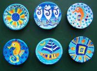 Hand-painted ceramics Acrylic paints www.atelie-rae.eu ...