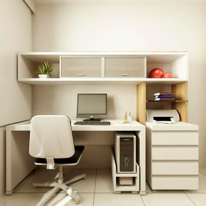 Alluring modern home office desks with modern small white desk - modern home office ideas