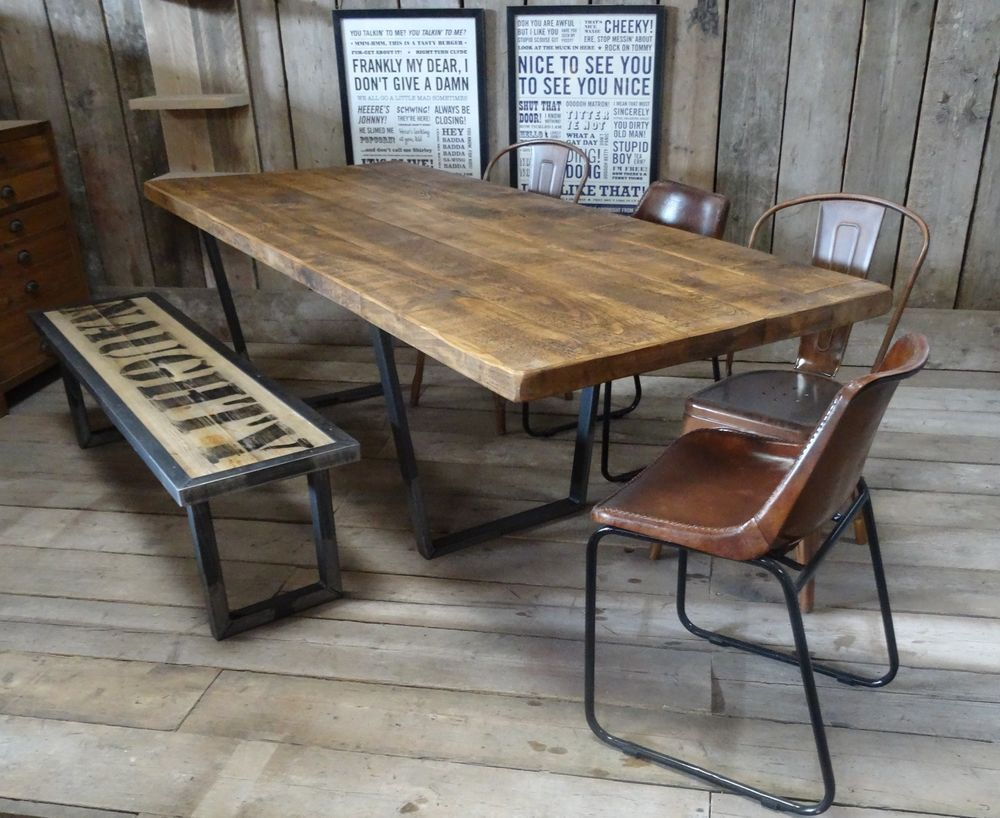 John lewis calia style extending vintage industrial reclaimed top dining table in home furniture