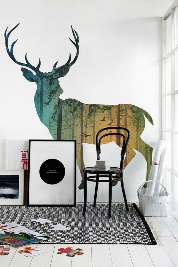 traumhaft Wandgestaltung mit Farbe wand streichen ideen wald - wande streichen farbe