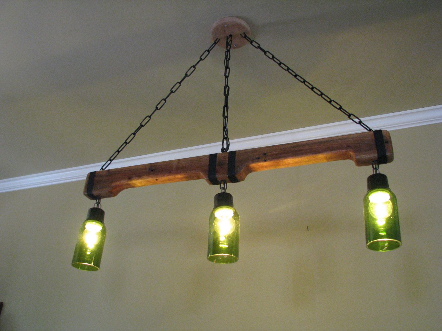 Hanging Bar Light Fixtures Pendant Light Rustic Hanging Lights Upcycled Lighting