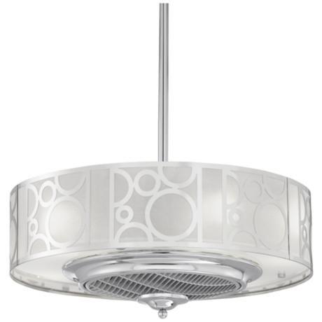 "24"" Casa Vieja Chrome Drum Ceiling Fan"