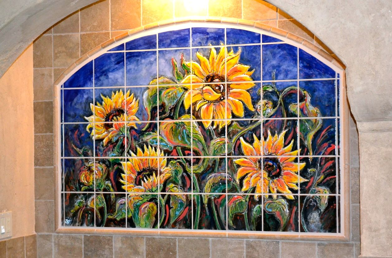 Carolyn Payne Murals Hand Painted Tile Mural Kitchen