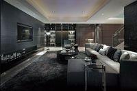 Excellent Luxurious Living Room Designs   Dark grey ...