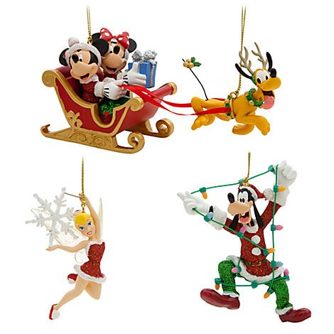Mickey Mouse and Friends Ornament Set - Holiday Ornament Sets - disney christmas decorations