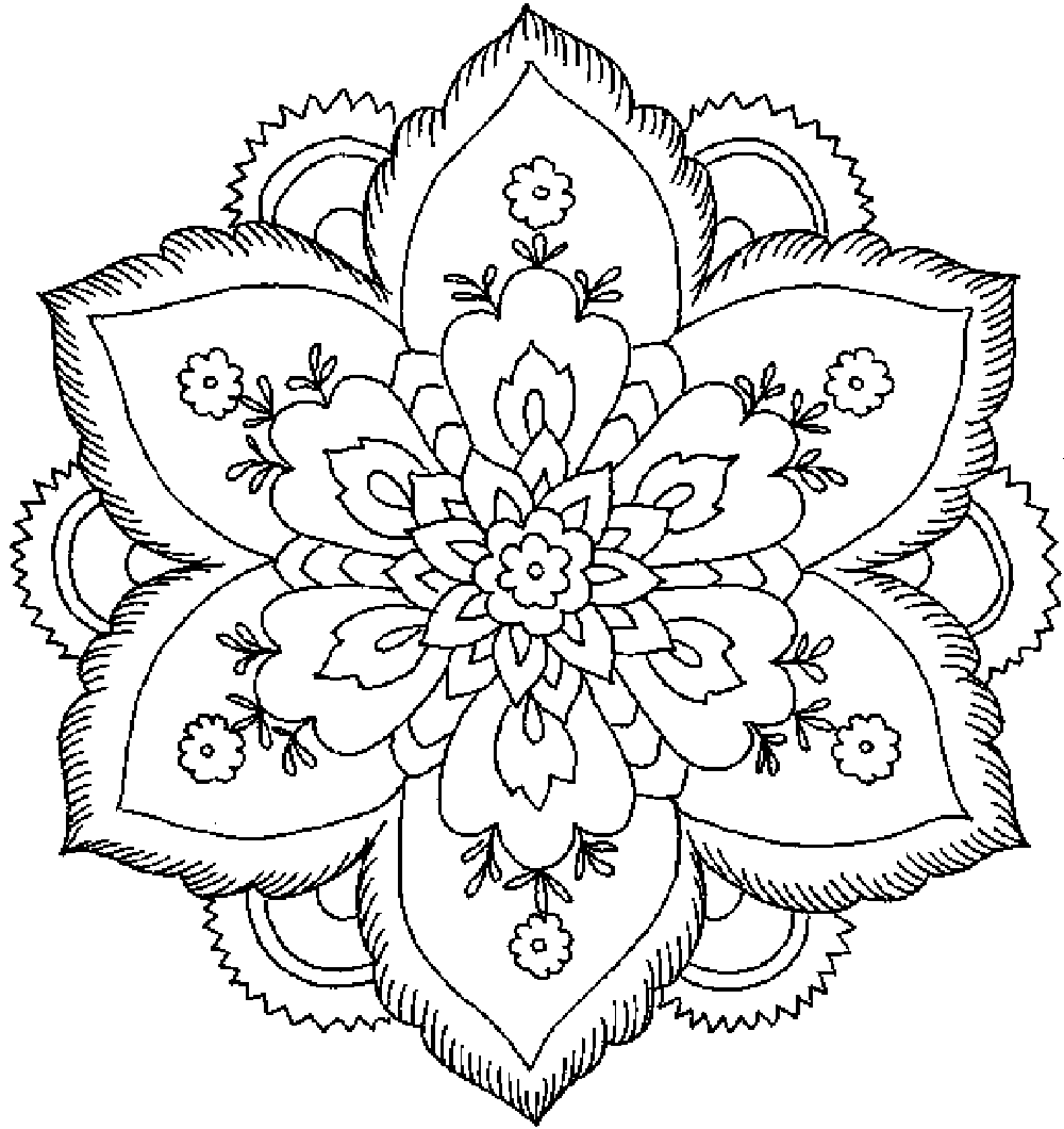 Coloring pages for adults flowers abstract coloring pages for adults printable kids colouring pages