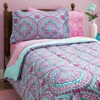 Teen Girls Bedding Twin Mint Green Teal Purple Comforter ...