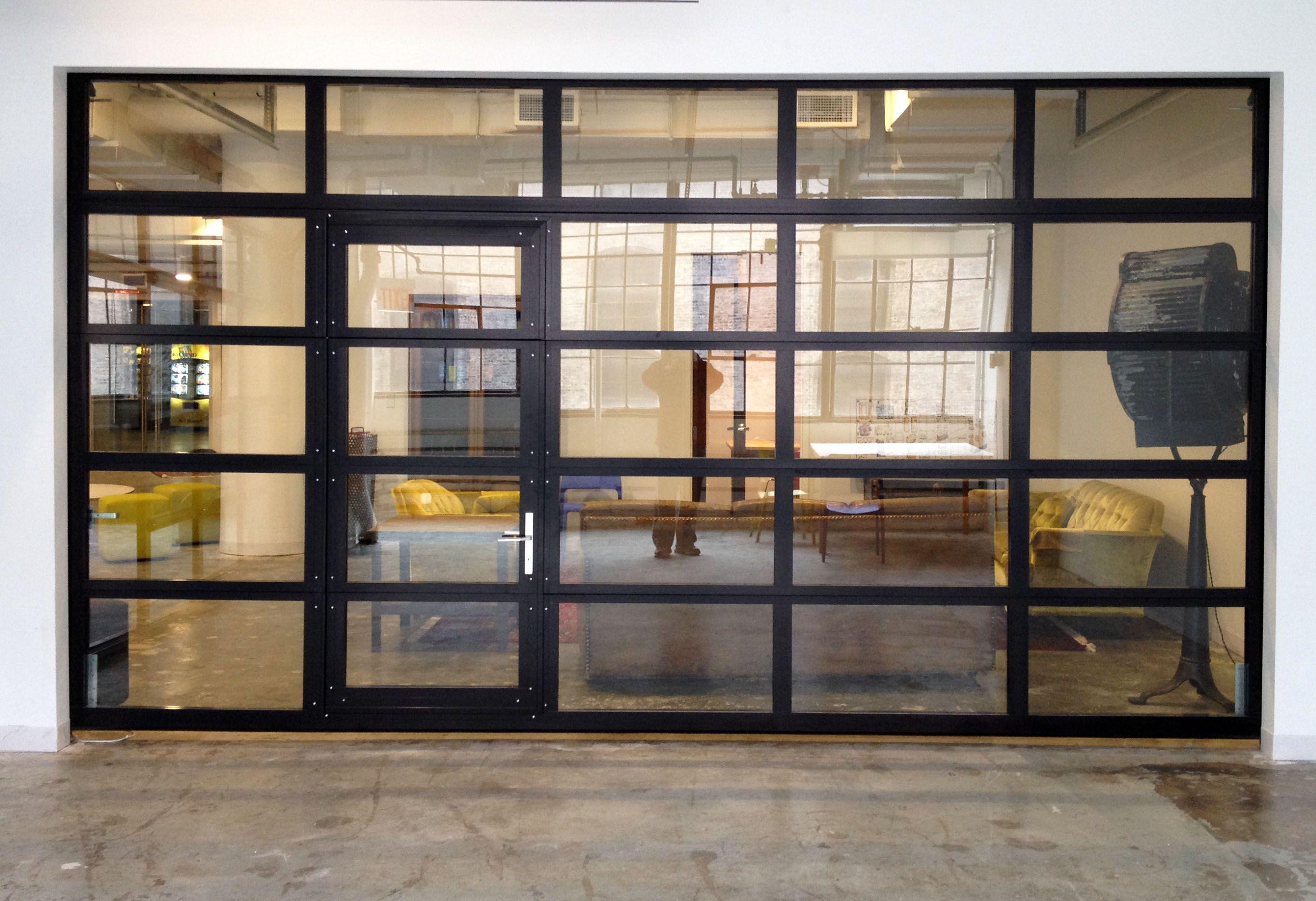 Glasspassingdoor full view aluminum glass garage door with passing door garage roll up