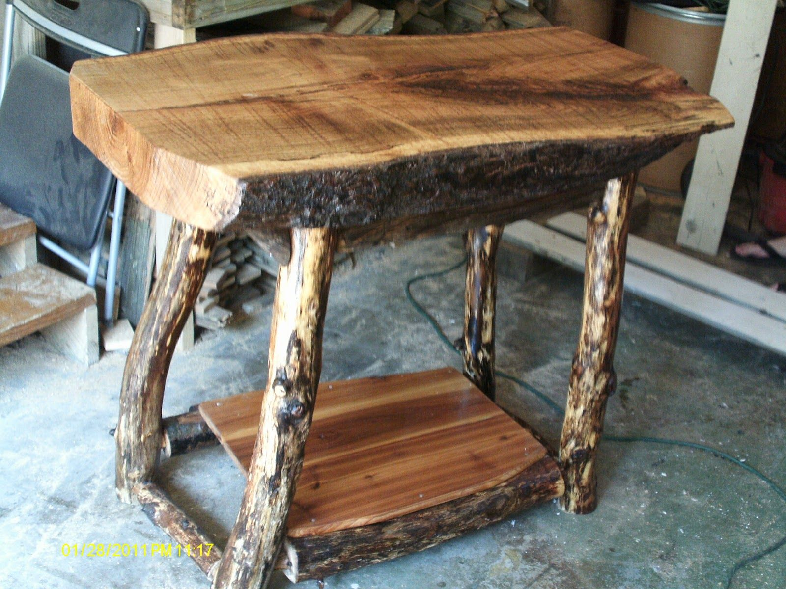 kitchen island chairs Log Furniture Handmade Rustic Log Furniture Oak Log Kitchen Island