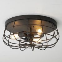 Industrial Cage Ceiling Light | Ceiling lights, Ceiling ...