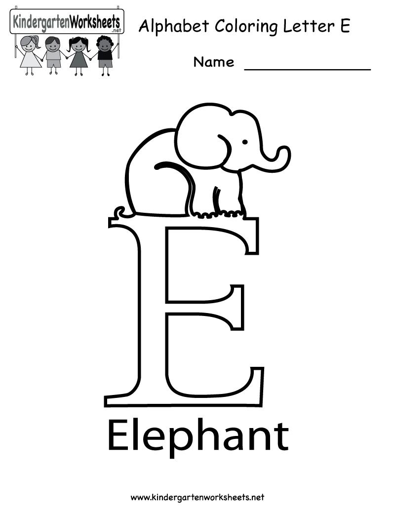 Color worksheets kindergarten - Al Alphabet Colouring Worksheets For Kindergarten Kindergarten Letter E Coloring Worksheet Printable Coloring Worksheetsalphabet