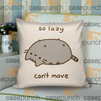Sr4-pusheen Cat So Lazy Can't Move Cushion Pillow Case ...