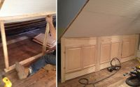 knee wall storage ideas | the completed knee-wall with ...
