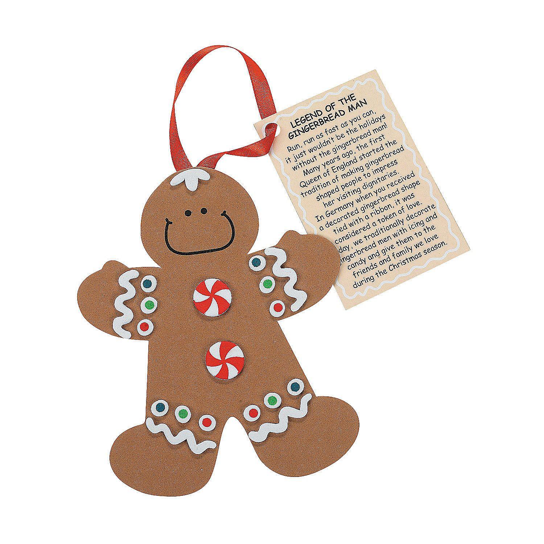 legend of the gingerbread man christmas ornament craft kit orientaltrading com