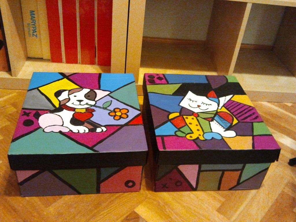Decorar Una Caja De Carton F D Las Cajas Decoradas Por Rutsmba Country Decoupage