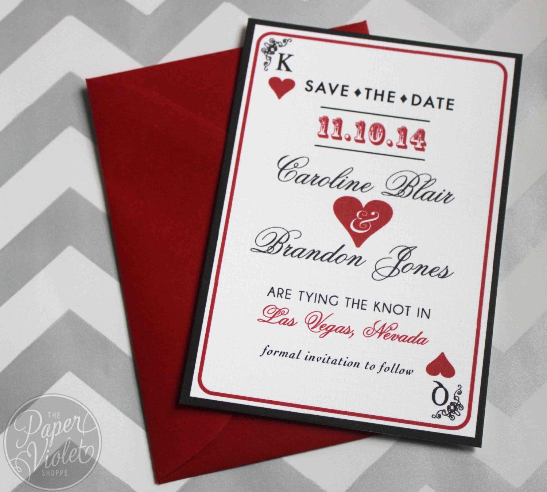 las vegas wedding invitations Las Vegas Save the Date Casino theme Save the Date with FREE wedding invitation sample