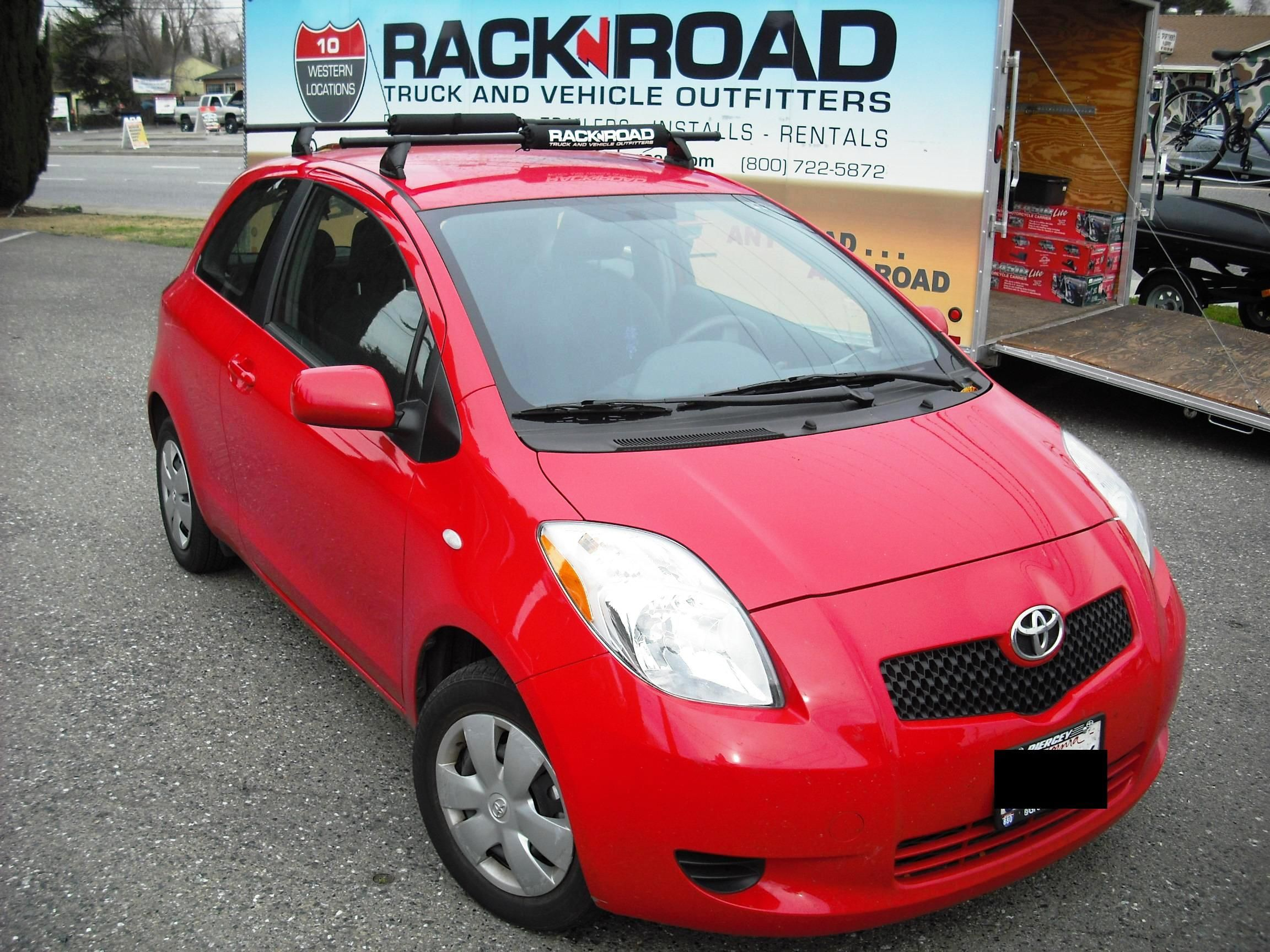 Toyota Yaris With Yakima Control Towers Car Rack