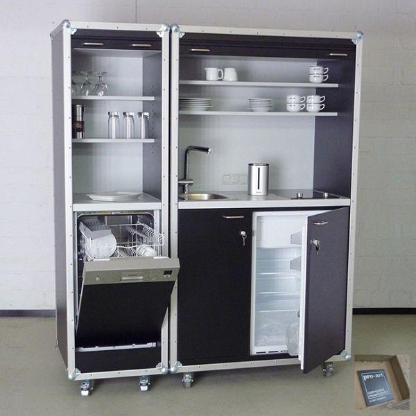 Büroküche Appartementküche casekitchen - vielseitig einsetzbar - kompaktes minikueche design konzept