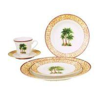 Palm Tree Decor | 20PC PALM TREE DINNERWARE SET | Palm ...