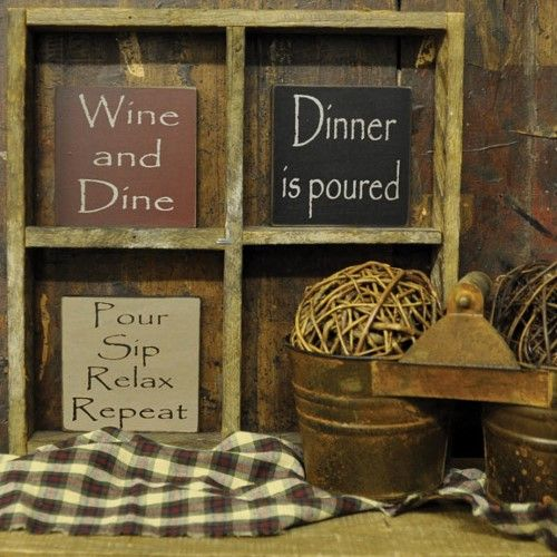 Wine Themed Signs - Kicthen \ Bar Decorations-Wine Themed Signs - wine themed kitchen ideas