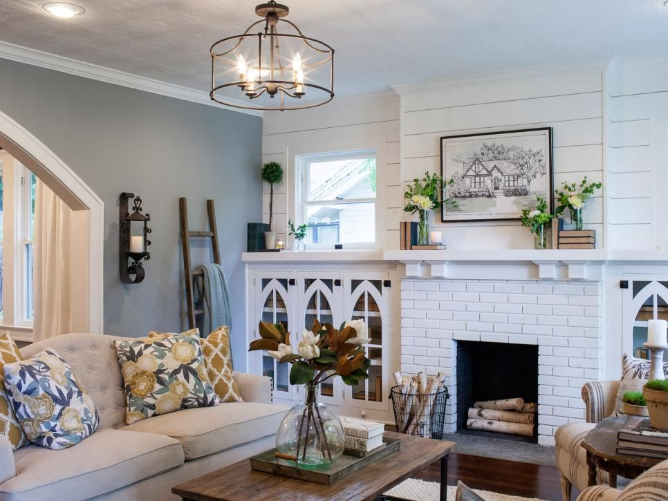 Fixer Upper Brick Cottage for Baylor Grads Stay true, Roots and - living room light fixtures